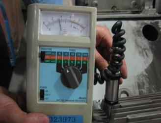 垂直方向の振動測定