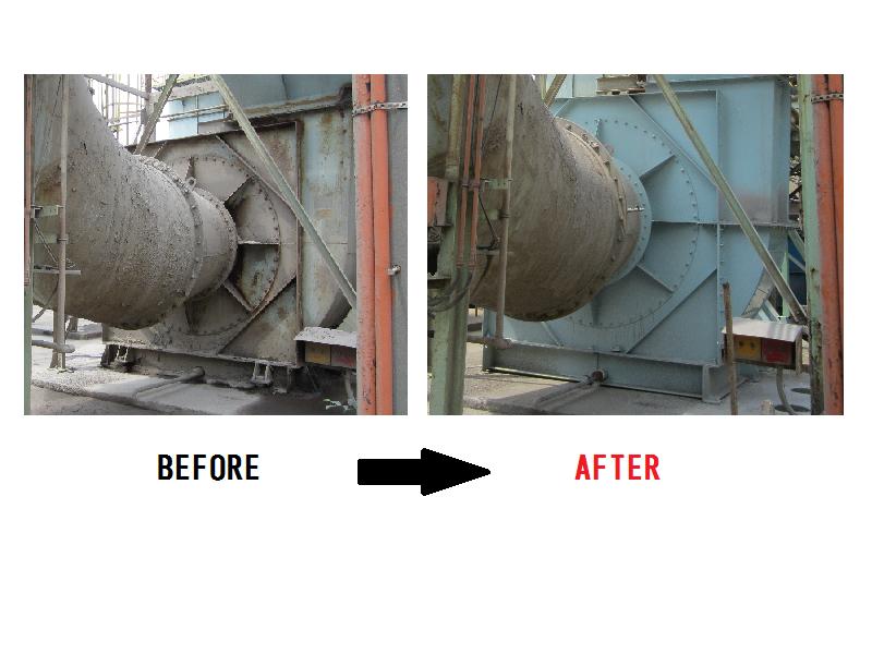 鉄管メーカー様向け集塵排気用ファン更新