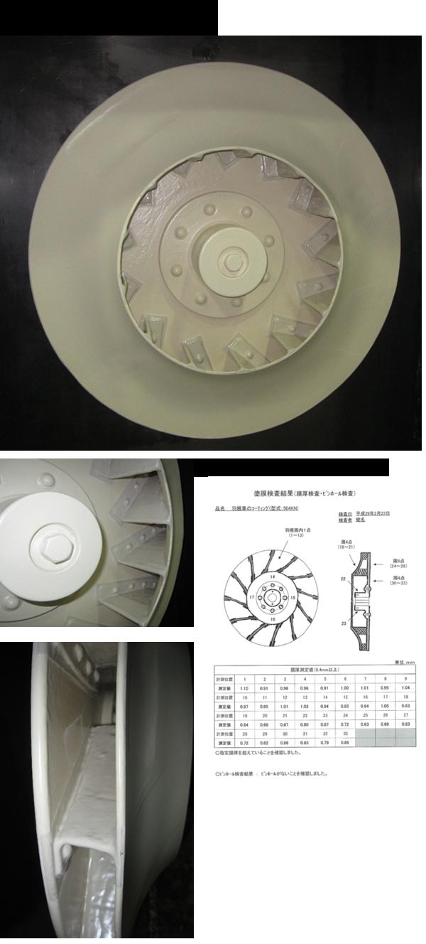 耐酸腐食対策送風機(エポキシコーティング)
